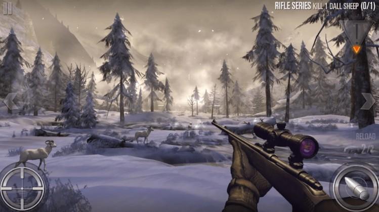 محیط بازی Deer Hunter