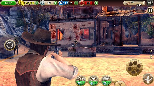 محیط بازی Six-Guns: Gang Showdown