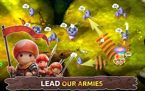 محیط بازی Mushroom Wars 2