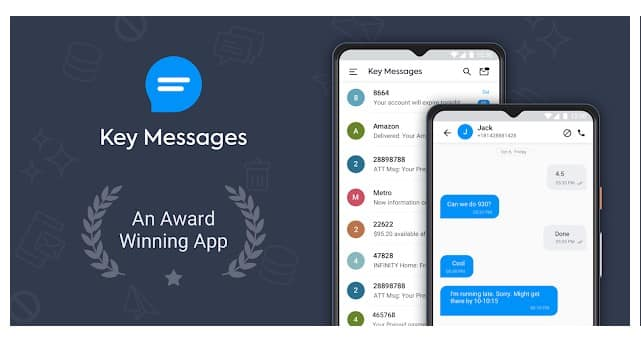 محیط برنامه Key Messages
