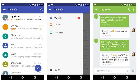 محیط برنامه Laban SMS