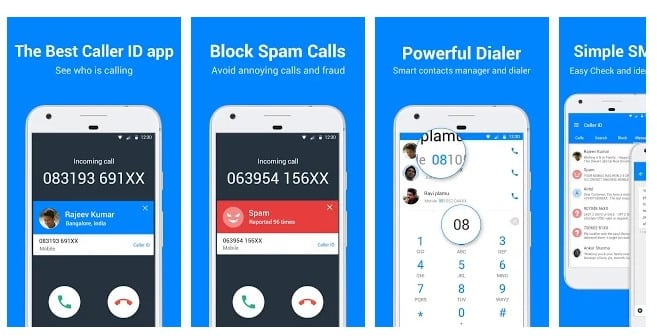 محیط برنامه Caller ID - Phone Dialer, Call Blocker
