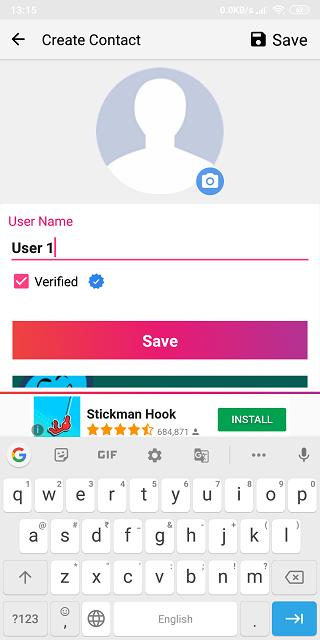 امکان استفاده از تیک آبی روی پروفایل