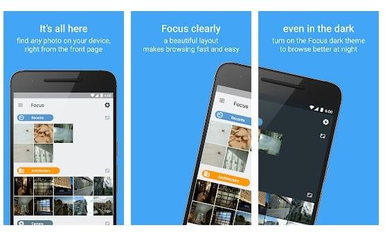 محیط برنامه Focus - Picture Gallery