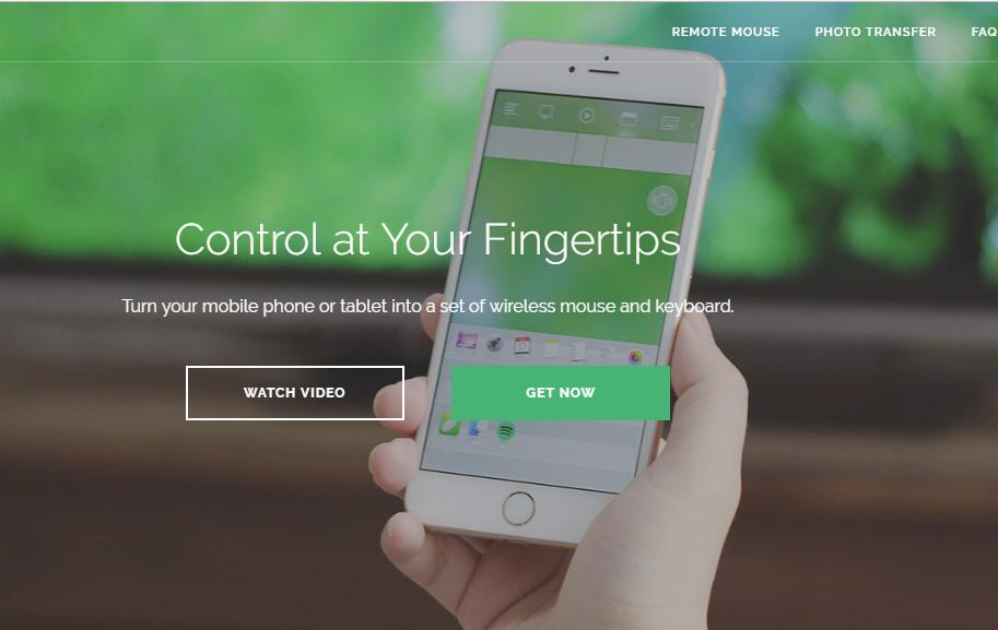 سایت برنامه Remote Mouse