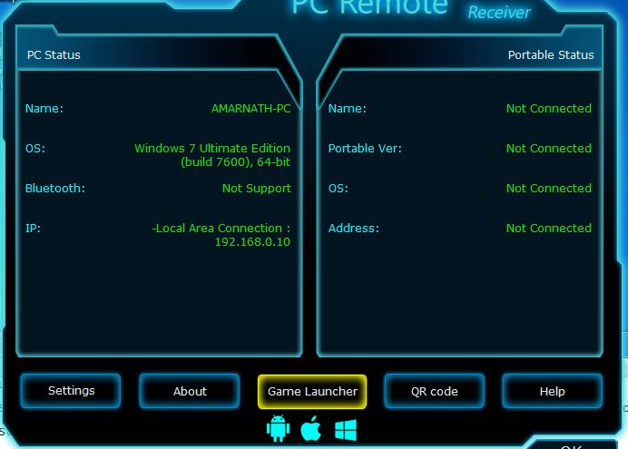 نصب برنامه در هر دو دستگاه