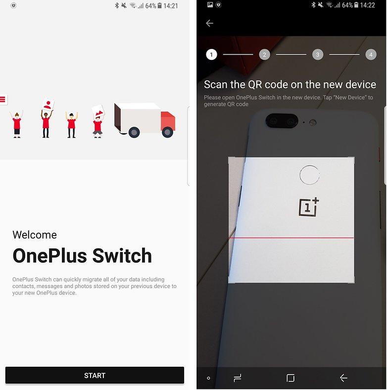 محیط برنامه OnePlus Switch