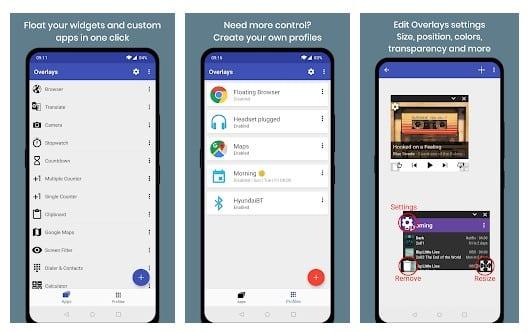 ویدیو پلیر Overlays: Floating Apps Multitasking