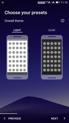 انتخاب حالن روشن یا تاریک برای نوا لانچر
