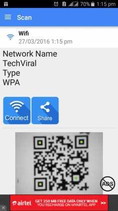 وصل شدن به Wifi با وای فای بارکد