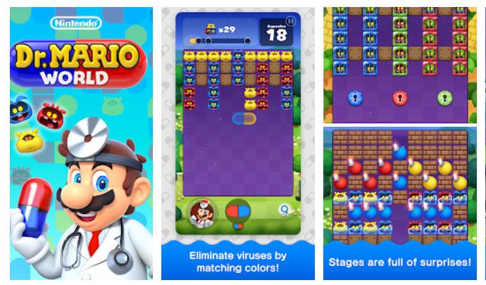 بازی سه رنگ مشابه Dr. Mario World اندروید