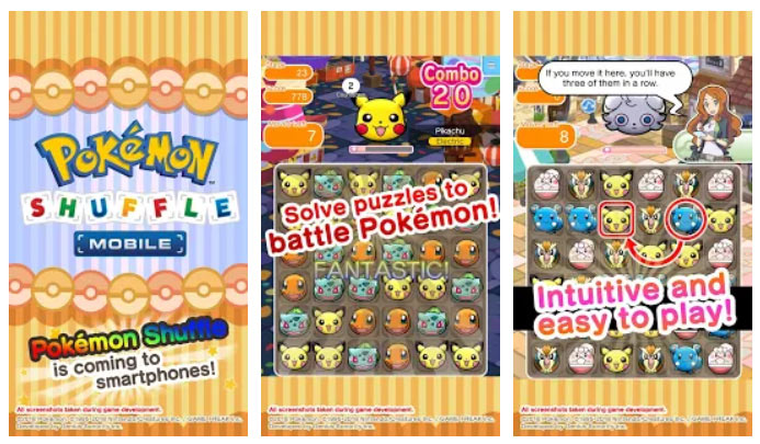 بازی سه رنگ مشابه Pokémon Shuffle Mobile اندروید