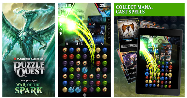 بازی سه رنگ مشابه Magic: The Gathering - Puzzle Quest اندروید
