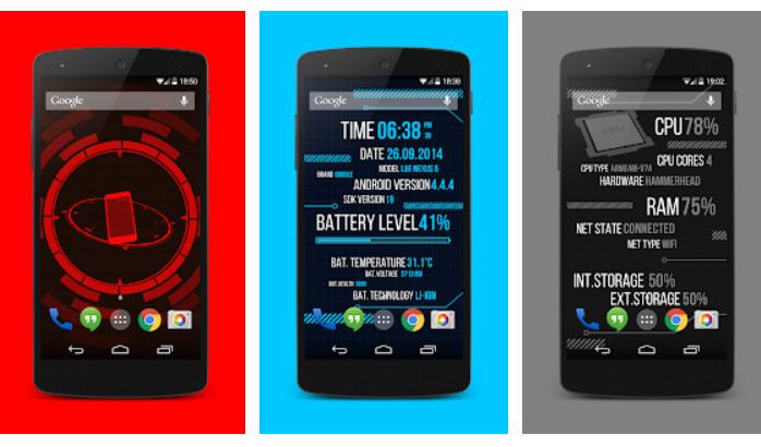 برنامه Holo Droid Free برای سنسور گوشی اندروید