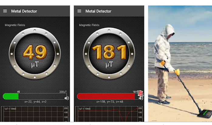 برنامه Metal Detector برای سنسور گوشی اندروید