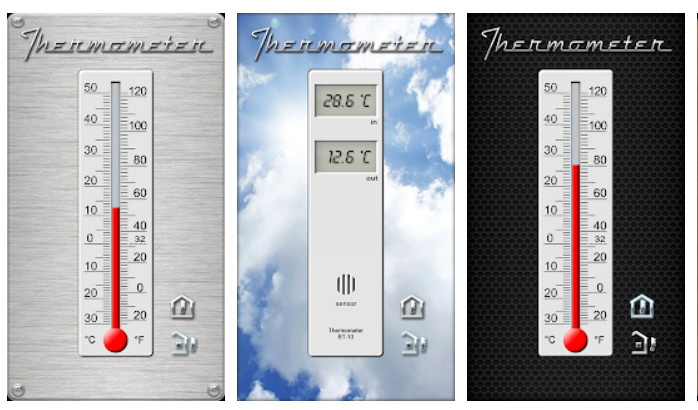 برنامه Thermometer برای سنسور گوشی اندروید