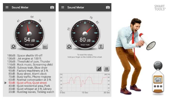 برنامه Sound Meter برای سنسور گوشی اندروید