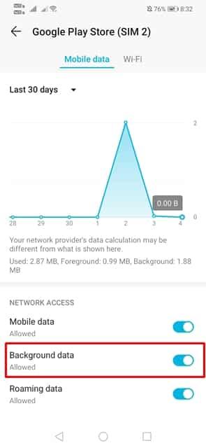 برداشتن محدودیت استفاده از داده در پس زمینه برای گوگل پلی