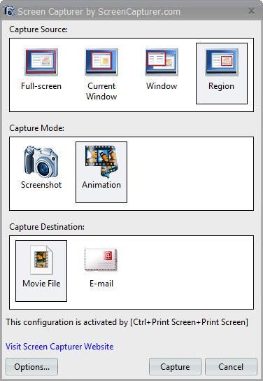برنامه Free Screen Capturer