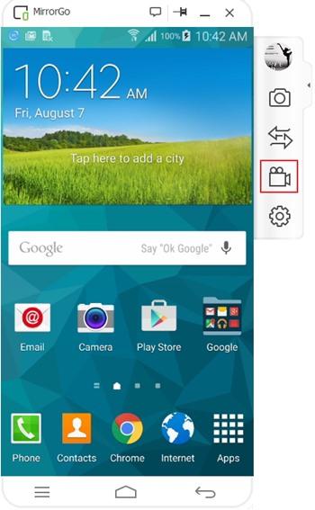 روش استفاده از MirrorGo Android Recorder