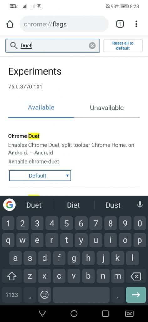 فعال کردن Duet کروم