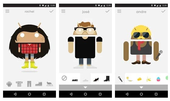 محیط برنامه آواتار کارتونی Androidify اندروید
