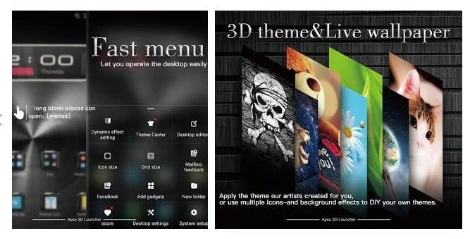 برنامه APSU Launcher 3D لانچر سه بعدی اندروید