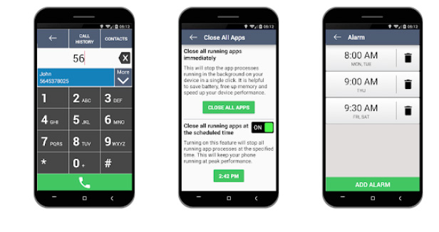 لانچر ساده Senior Safety Phone برای اندروید