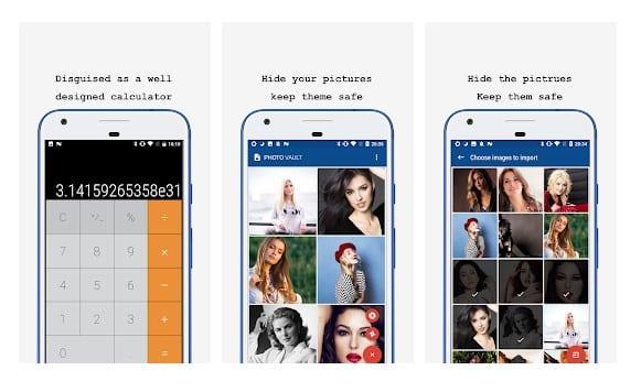 برنامه ماشین حساب مخفی Calculator - Photo Vault & Video Vault hide photos اندروید