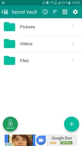بخش فایل های پنهان