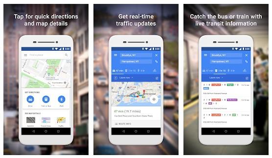 برنامه Google Maps Go اندروید
