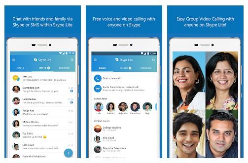 برنامه Skype Lite اندروید