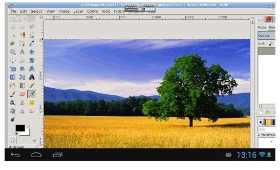 نرم افزار شبیه فتوشاپ XGimp Image Editor برای اندروید