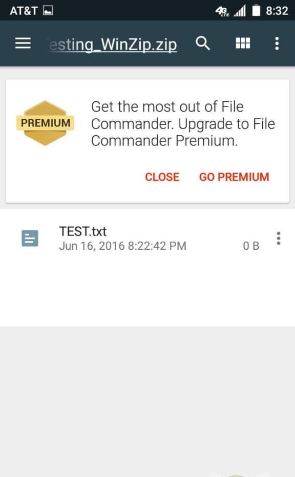 محیط برنامه File Commander اندروید