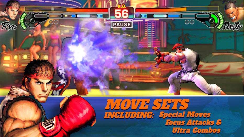 محیط بازی Street Fighter IV Champion Edition اندروید