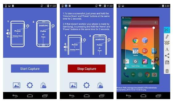 محیط برنامه اسکرین شات Super Screenshot اندروید