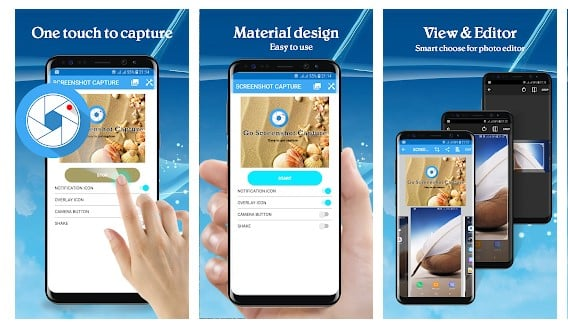 محیط برنامه اسکرین شات Go Screen Capture اندروید