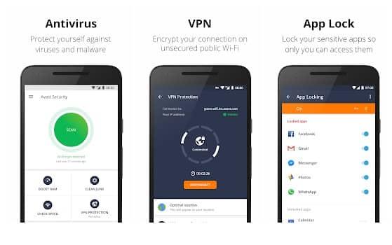 برنامه دزدگیر Avast Antivirus اندروید