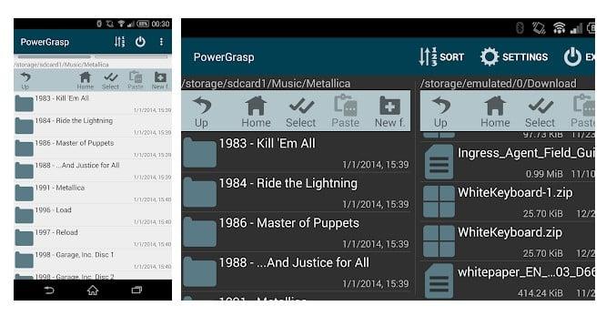 برنامه PowerGrasp file manager فشرده سازی فایل اندروید