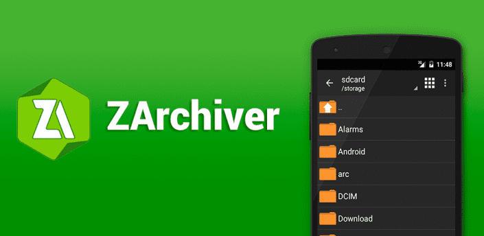 برنامه ZArchiver فشرده سازی فایل اندروید