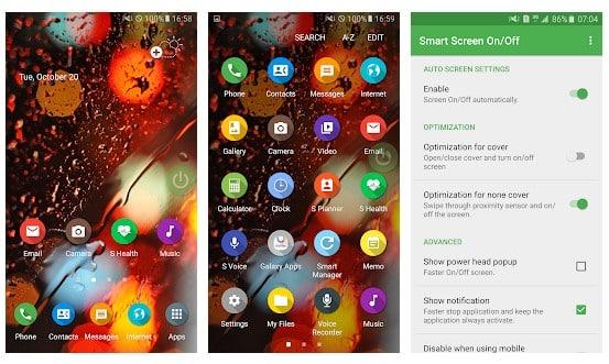 محیط برنامه صفحه دائم روشن Smart Screen اندروید