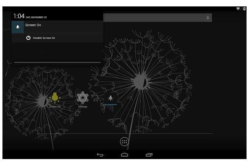 محیط برنامه صفحه دائم روشن Screen On اندروید
