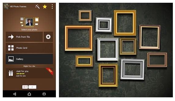 محیط HD Photo Frames برنامه قاب عکس اندروید