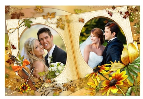 محیط Family Dual Photo Frames برنامه قاب عکس اندروید