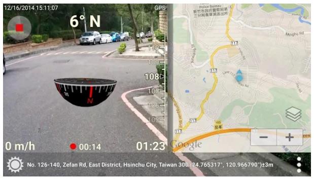 محیط برنامه قطب نما 3D Compass Plus اندروید