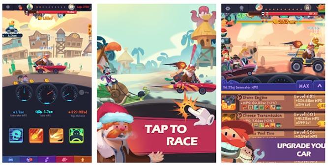 بازی های ماشین سواری آفلاین Clicker Racing اندروید