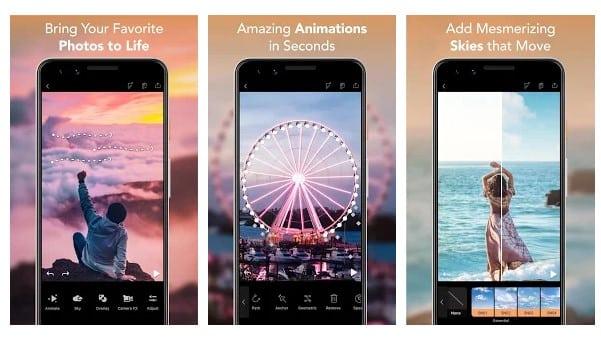 برنامه Enlight Pixaloop برای تبدیل عکس به انیمیشن اندروید