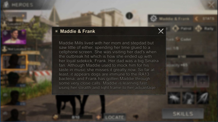 توضیح کاراکتر Maddie & Frank و بکگراند آن ها