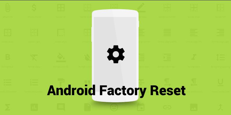 Factory Reset