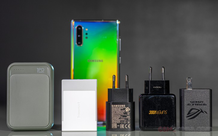 Galaxy Note10 Plus و شارژر های مختلف